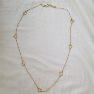 Marc by Marc Jacobs Chasin Hearts Gold Necklace